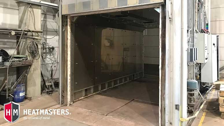 Gas-burner furnace was converted into an electric heat treatment furnace utilizing convection heating.
