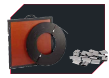 Heat Treatment Consumables - Steel Bands and Clips for attaching heat treating elements / heating mats for pre-heating and PWHT.