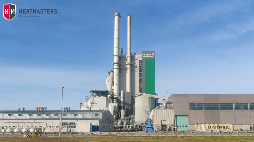 Heatmasters on-site heat treatment Uruguay, South America tratamiento térmico Montes del Plata Mill